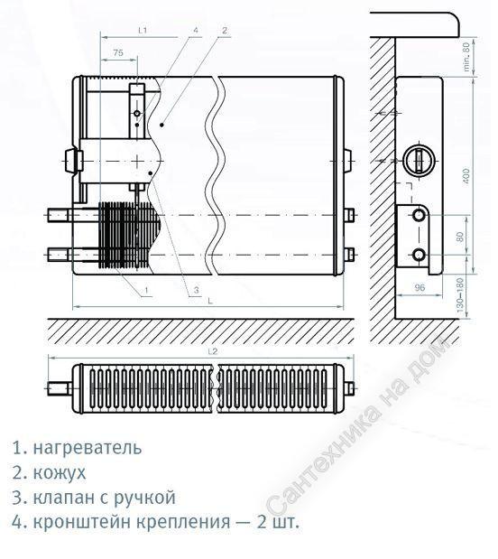 Конвектор Универсал-ТБ-А КСК 20-1,180 К рез. У7